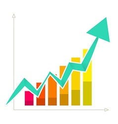 Rising Arrow Graph vector image