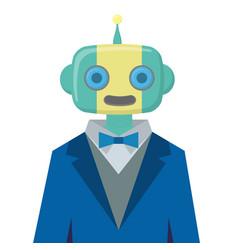robot wears suit vector image