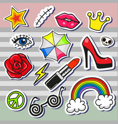 Rtoon patch badges vector