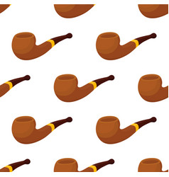 Seamless pattern with smoking pipe tobacco vector