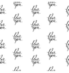 Seamless wallpaper romantic valenine s day i love vector