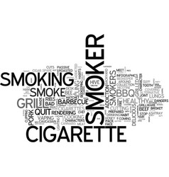 Smoker word cloud concept vector
