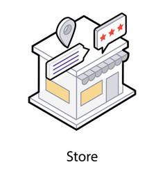 Store icon in isometric design vector