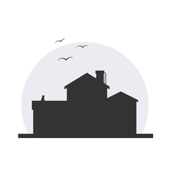 Stylish house silhouette vector