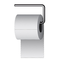 Toilet paper on chrome holder vector