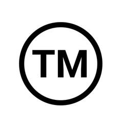 Trademark tm sign logo symbol copyright tm sign vector
