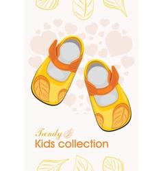 Trendy kids shoes vector