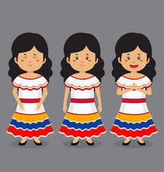 Venezuela character with various expression vector