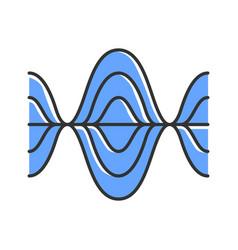 Voice recording color icon vibration noise level vector