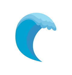 wave icon flat style vector image