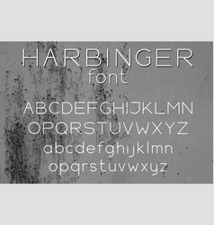 wide sans serif letters vector image