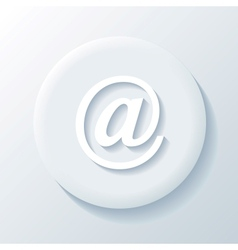 Email 3D Paper Icon vector image vector image