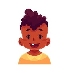 Little boy face wow facial expression vector image vector image