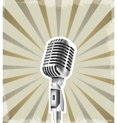 microphone retro background vector image