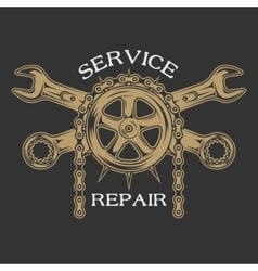 Service repair and maintenance vector image