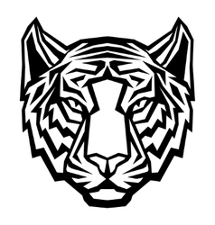 Tiger head logo mascot on white background vector image vector image