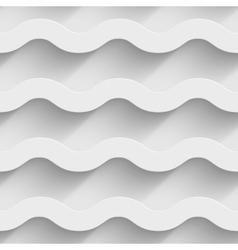 Abstract white paper 3d horizontal waves seamless vector image vector image
