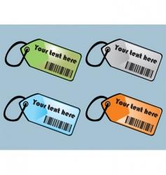 barcodes tags vector image vector image