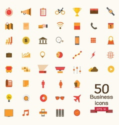 business icons signs vector image vector image