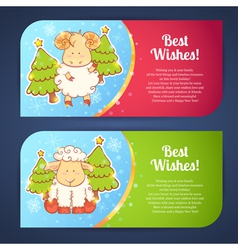 Cute winter Chinese new year card vector image