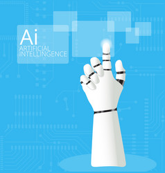 mechanical robotic hand pointing vector image vector image