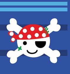 Pirate baby vector image vector image