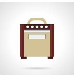 Retro guitar amplifier flat color icon vector image vector image