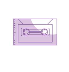 silhouette retro cassete to listen kind music vector image vector image