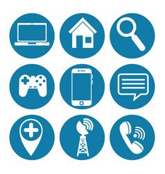 social media icons set vector image