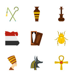 cairo travel icons set cartoon style vector image vector image