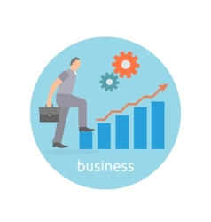 Concept of success and determination in business vector image