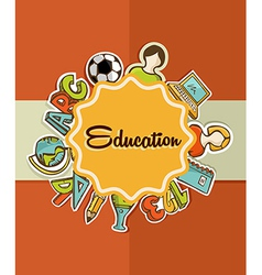 Education label back to school icons vector image