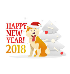 happy new year 2018 postcard template with the vector image vector image