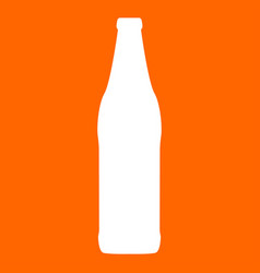 beer bottle white icon vector image