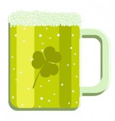 cartoon green beer vector image vector image