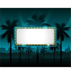 Casino banner with city lights in background vector image