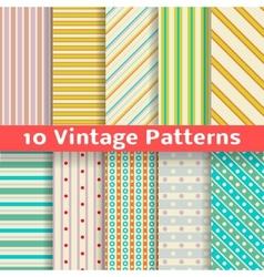 Different vintage stripe seamless patterns tiling vector image