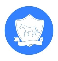Equestrian blaze icon in black style isolated on vector image