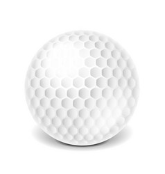 golf ball isolated on white vector image vector image
