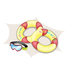 Inflatable Ring and Scuba Mask vector image