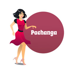 pachanga dancer in cartoon style vector image
