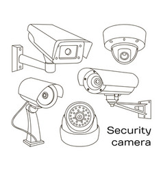 set of security camera vector image vector image