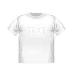 Shirt blank isolated clothing casual fashion vector