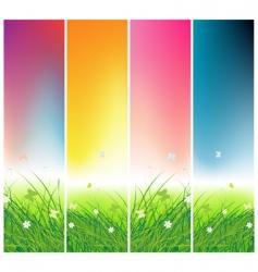 summer field vector image vector image
