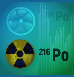 A radioactive isotope of polonium vector