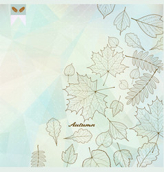 abstract autumn with maple leaves vector image