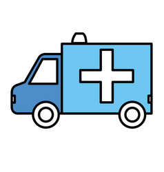 Ambulance vehicle isolated icon vector