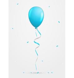 Balloon and confetti vector