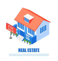 Banner inscription real estate vector