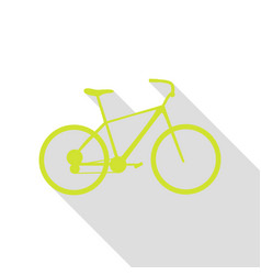 bicycle bike sign pear icon with flat style vector image